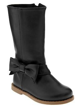 Bow riding boots | Gap Toddler Girl $39.95. I want a pair for ME!