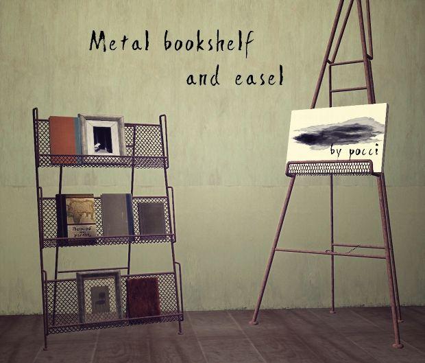 GB-Backyard : Metal Bookshelf & Easel