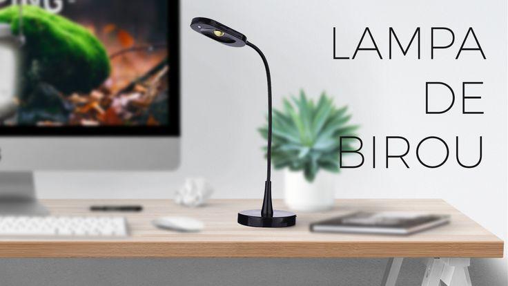 Transofrma-ti biroul intr-un mediu inspirational si practic. http://elda.ro/produs/lampa-de-birou-neagra-6w-z7523b/