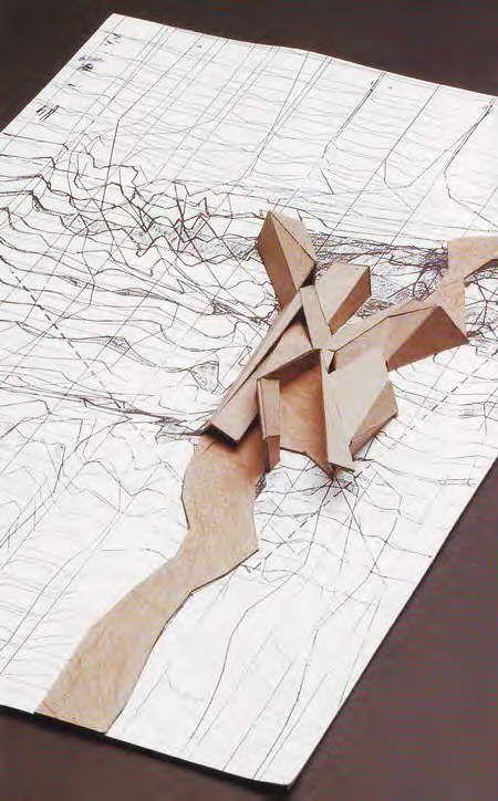International Relations University Library Model Peter Eisenman 1996 > Drawing to model site plan <