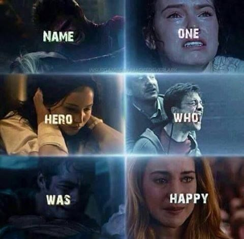 Name one hero who was happy...