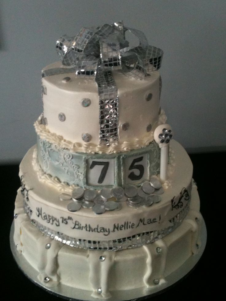 75th Birthday Cake Grandma Pinterest