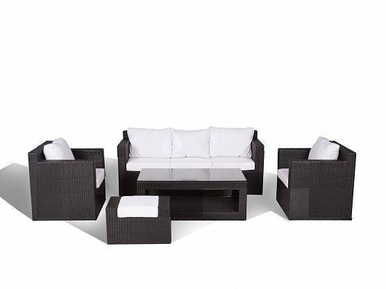 Contemporary Outdoor Sofa Set   Resin Wicker Patio Furniture   ROMA_202