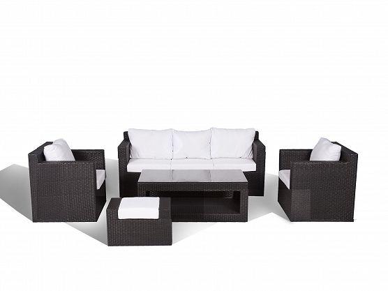 Contemporary Outdoor Sofa Set - Resin Wicker Patio Furniture - ROMA_202