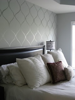 nice wall paper idea- guest bedroom?