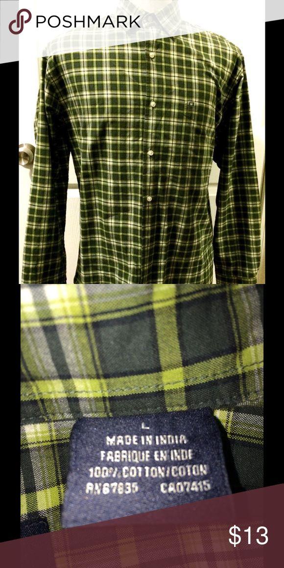Nautica Men's Green Plaid Shirt Size L Nautica Men's Green Plaid Shirt Size L Nautica Shirts Casual Button Down Shirts