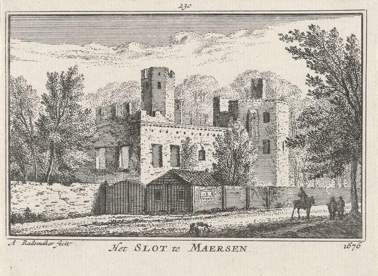 Ruïne van Huis Ter Meer bij Maarssen, Abraham Rademaker, Willem Barents, Antoni Schoonenburg, 1727 - 1733