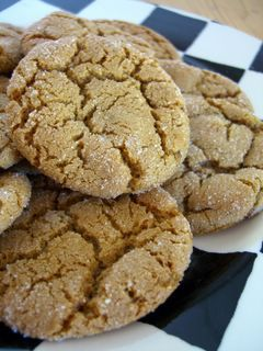 Spiced Up Ginger Cookies...These are really good. Certainly the best in recent memory, if not the best chewy ginger cookies I've ever had. They have a lot of spice. They have nice crispy edges when they're freshly baked. They use oil instead of butter so they remain very chewy, even after a few days! I'm reprinting the recipe here. I added a pinch of salt and rolled the cookies in sugar before baking. The rolling could certainly be omitted, but I love the way it looks.