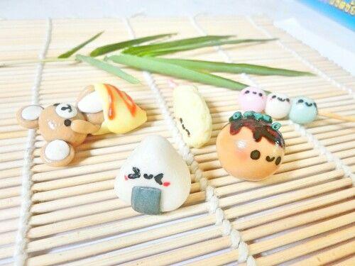 #bgclaycharm Japanese food and dessert mini model #sweetsdeco kawaii