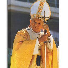#Obraz na płótnie #canvas. #Jan Paweł II #Papież. W trzech rozmiarach. Będzie piękną #pamiątką lub #prezentem na specjalne okazje. Do kupienia na http://bit.ly/1ZMmMZ7
