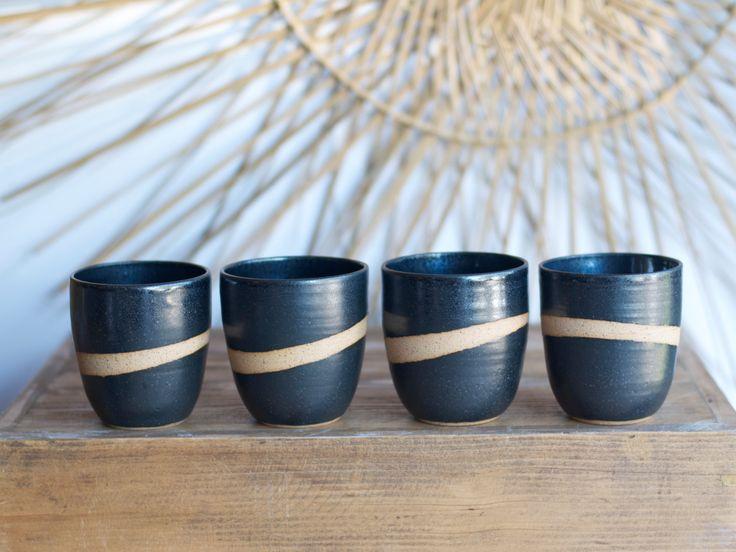 SALE Handmade Pottery Mug Ceramic Cup Whiskey Rocks