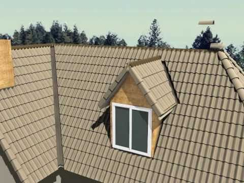 How To Install Concrete Roof Tile (Animated)   YouTube