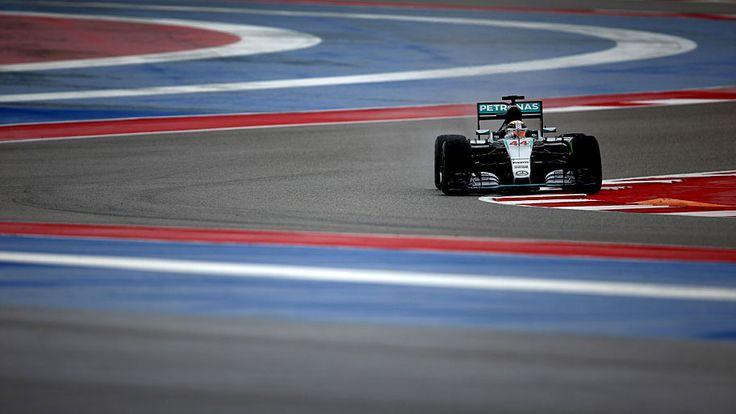 - O inglês Lewis Hamilton, da Mercedes, durante o Grande Prêmio dos Estados Unidos de Fórmula 1, em Austin. Foto: Clive Mason / Getty Images / AFP