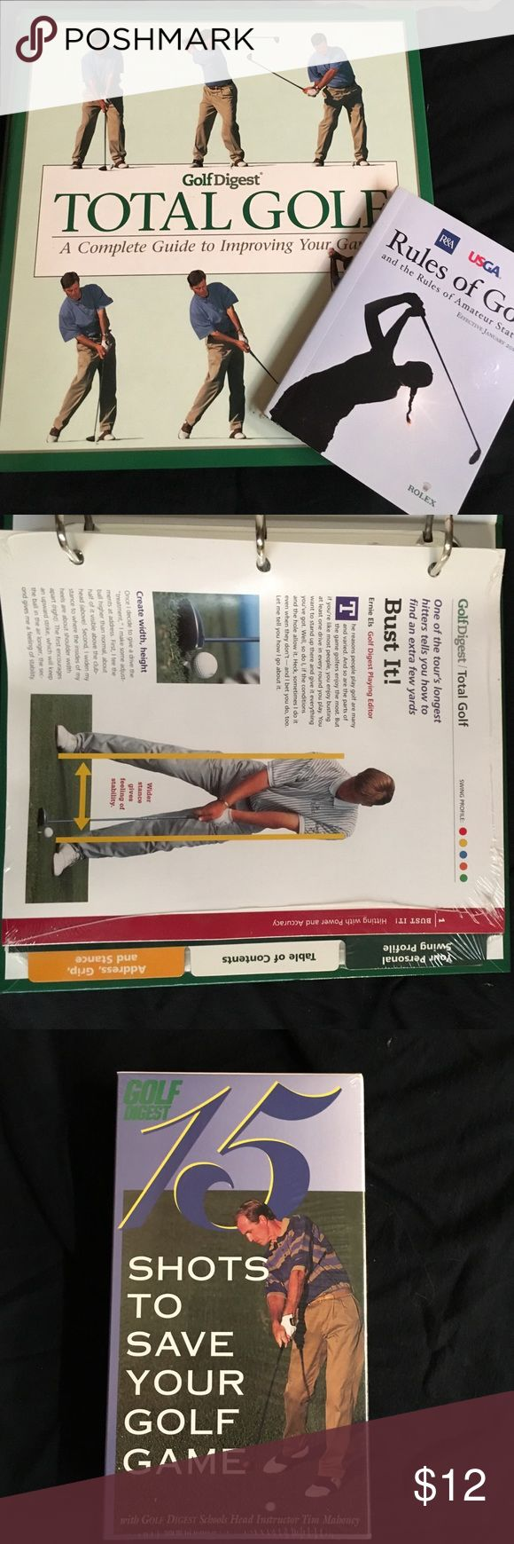 New Rules of Golf 2016, Readers Digest Total Golf New Rules of Golf 2016, Readers Digest Total Golf, Golf Digest 15 Shots to Improve Your Game VHS Both Readers Digest Still in wrap. Accessories