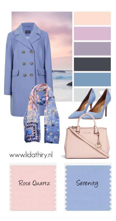 For Bright Winter - keep the pink icy, the blue bold & both clear - Serenity en Rose Quartz zijn dé kleuren van het jaar 2016