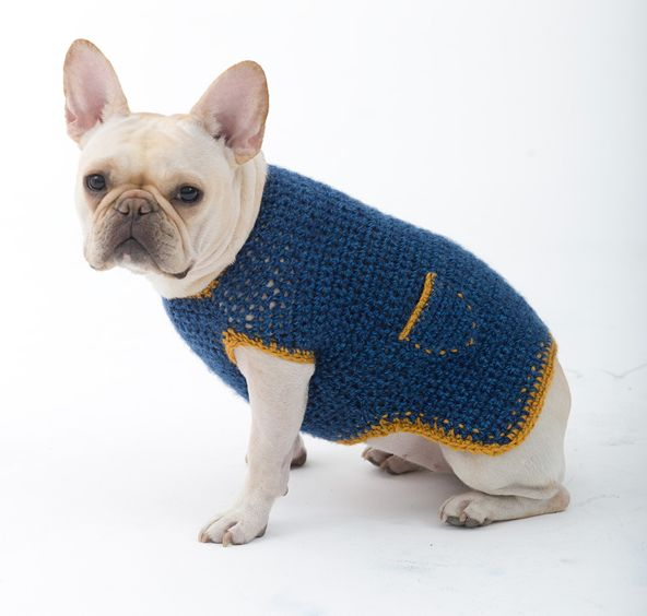 Crochet Dog Sweaters for Free Pet Crochet Pinterest ...