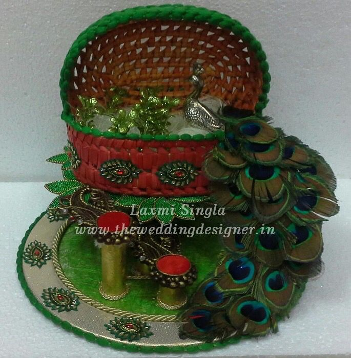 peacock wedding platter