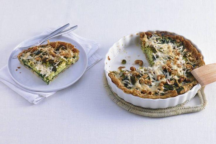 Broccoli-spinazietaart - Recept - Allerhande