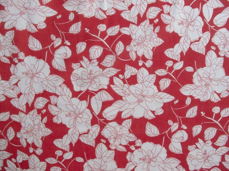 Marylin Floral Cotton - Red