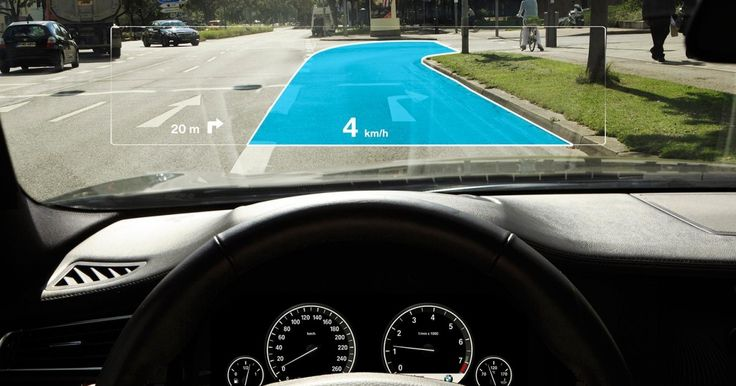 Your future windshield will look more like a see-through TV than a window