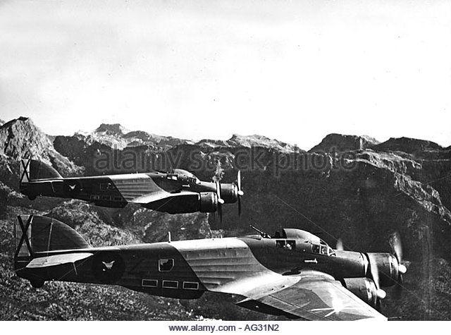 "Spain - 1939. - GC - Italian bomber, Savoia Marchetti SM 79, ""Sparviero"""