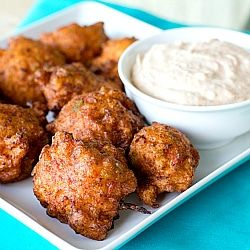 Conch Fritters - A homemade recreation of one of my favorite beach foods.