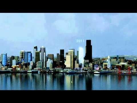 Evolution of Seattle Skyline
