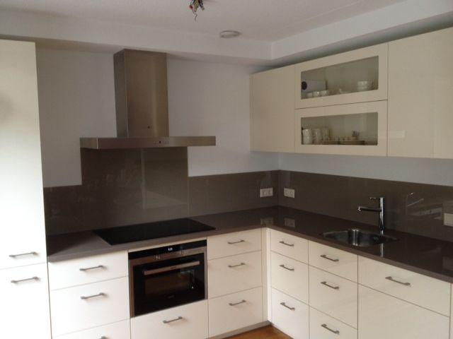 Mooie Keuken Achterwand : keuken spatwand wit in denderleeuw keukenglas keukenglas be