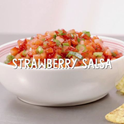 Strawberry Salsa // Tart-sweet and pleasantly spicy, this fresh strawberry and green onion salsa is the perfect match for just about anything, including grilled fish and chicken.