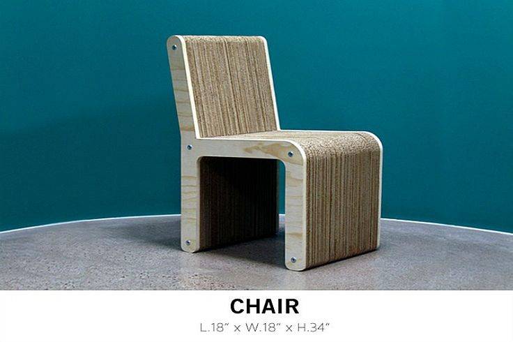 The name of this furniture says it all: you sit on or use 100% eco-friendly furniture that is made entirely out of recyclable materials. While traditional furniture needs to be held together by glue, SITGREEN designs come to life by using the power of compression, stacks of cardboard, and other pieces that would have ended up in a landfill like wood and screw bolts.
