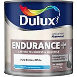 Dulux Endurance Pure Brilliant White Matt Emulsion Paint 5L | Departments | DIY at B&Q