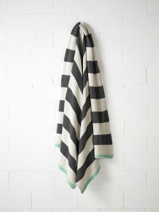 Aura striped throw $209 - Perch Home
