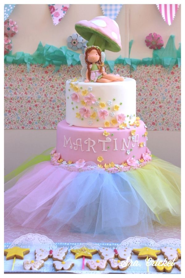 fiesta de hadas tarta  Sra. Cricket