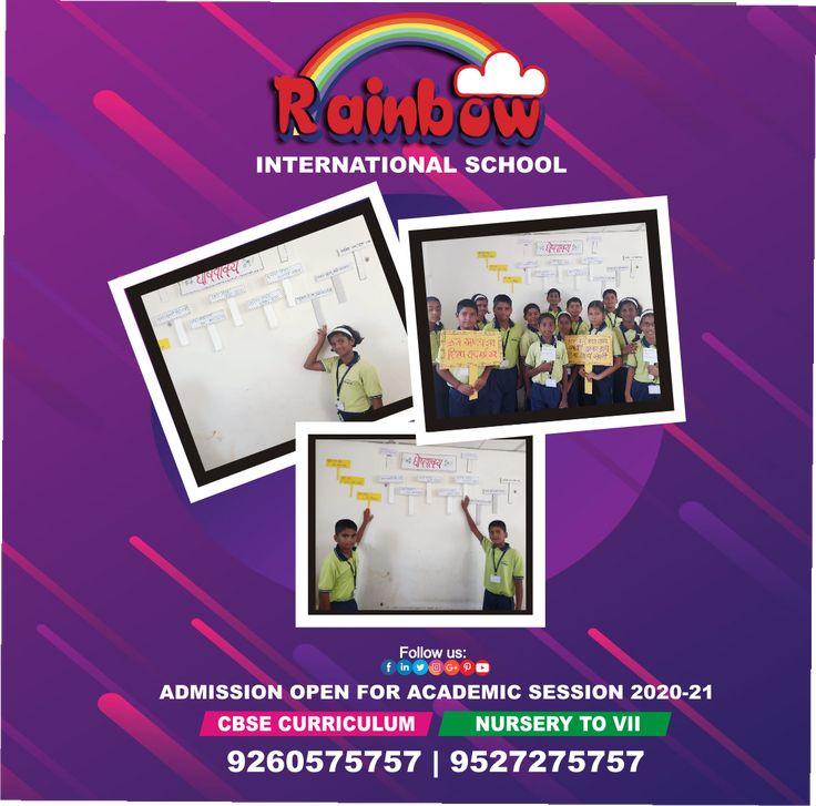 Rainbow International School organized Marathi slogan