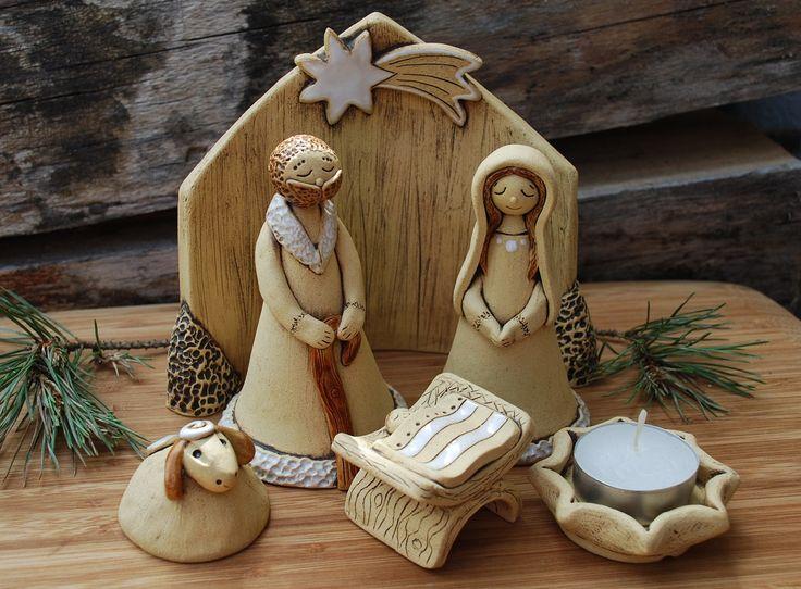 Betlém - keramika + svícen