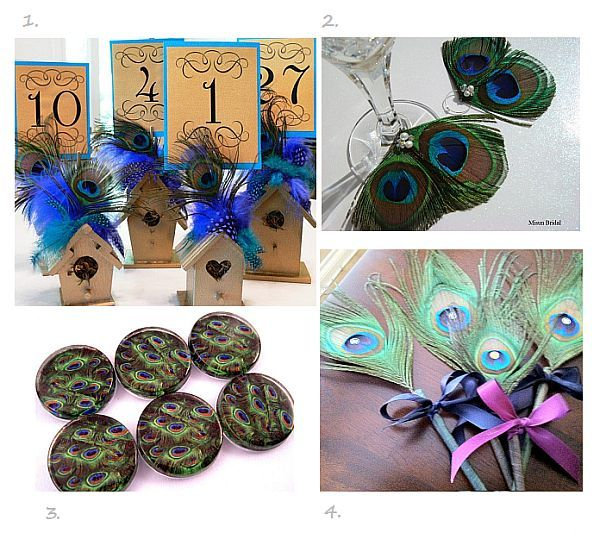 peacock feather wedding decorations peacock wedding invitations and wedding ideas - Peacock Wedding Invitations Cheap