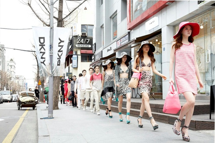 Spring 2012 DKNY Guerrilla Runway Show & Event in Garosu Street in Seoul, South Korea, March 25, 2012.
