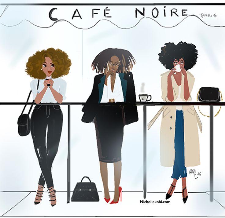 Morning girls au cafe