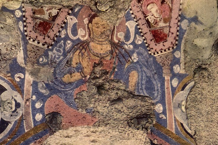 the oldest oil paintings are in afghanistan  they were