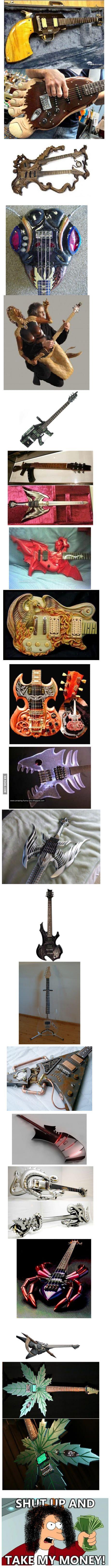 Some crazy unique guitars
