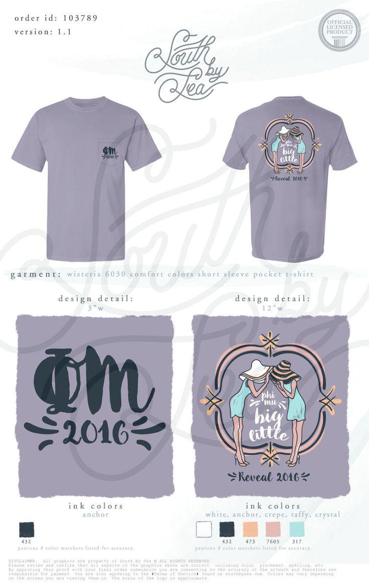 T shirt design reno nv - Phi Mu Big Little Reveal Sisterhood T Shirt Design Quatrefoil South