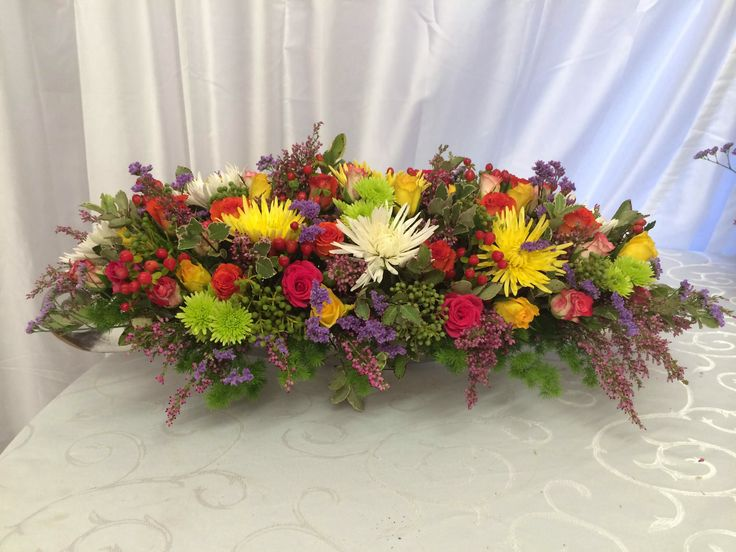 Flowers for the main table.