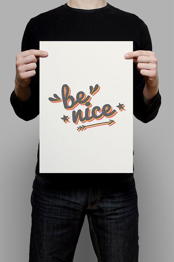 #Print #Digital #Download #Printable #Home #Decor #Poster #Typography #Inspirational #Quote #Art #Erhico #Design #benice #nice