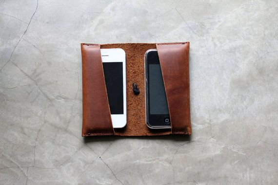 Miller Goods Double Mobile Wallet, $78.: Phone Reviews, Mobile Phone, Phone Wallet, Wallet Hand, Case Wallets, Leather, Mobile