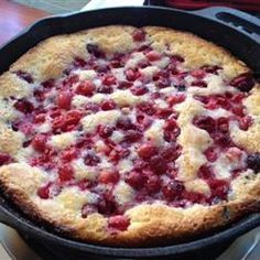 Easy Batter Fruit Cobbler Recipe - Allrecipes.com. I've made this many times and it is FABULOUS and super easy! I make it into a low carb treat by using whole wheat flour and substituting Splenda for Baking for the sugar. I've made it with frozen berries, fresh berries, chopped apples, you name it!