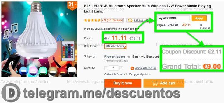 Bombilla LED con altavoz por sólo 9 - http://ift.tt/2eqxRj2
