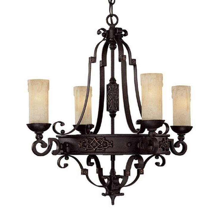 Shop Capital Lighting  3604RI-279 4 Light River Crest Chandelier, Rustic Iron  at ATG Stores. Browse our chandeliers, all with free shipping and best price guaranteed.