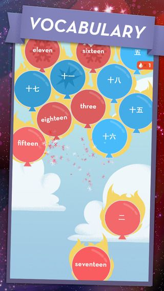 Not a game from China but MindSnacks are doing some nice game design