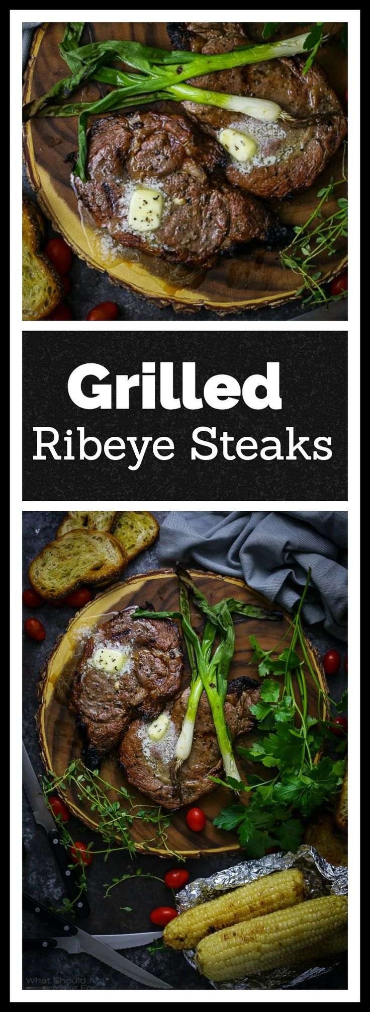 Impossibly juicy and flavorful, these ribeye steaks are enhanced by a simple marinade, grilled in minutes and topped with a pat of butter for an extra dash of delicious.