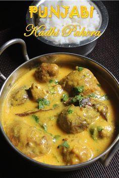 YUMMY TUMMY: Punjabi Kadhi Pakora Recipe - Kadhi Pakoda Recipe